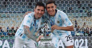 Nahuel Molina, campeón de América con la Selección, fue homenajeado en Embalse